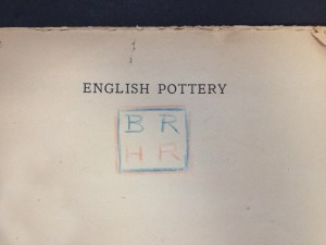 English Pottery by Bernard Rackham and Herbert Read