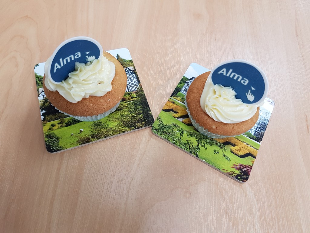 "Cardiff University Library celebrated going live with ""Alma cakes""!"